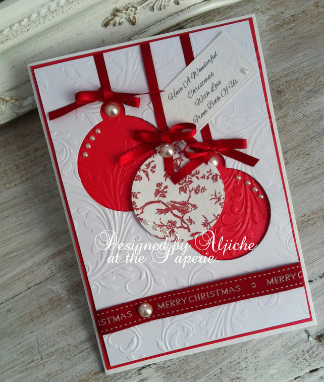 Christmas Card, Handmade, From Both Of Us, Personalized