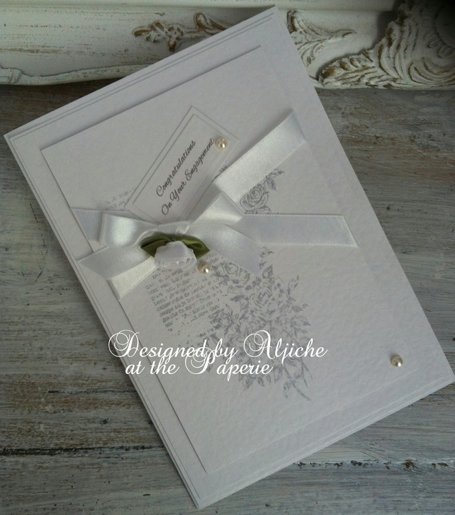 Engagement Card, Personalized,  Wedding, Love, Anniversary, Handmade
