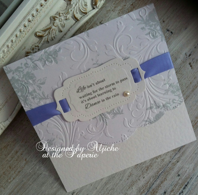 Condolence Card ,Thinking Of You,  Encouragement, Sympathy, Personalized,