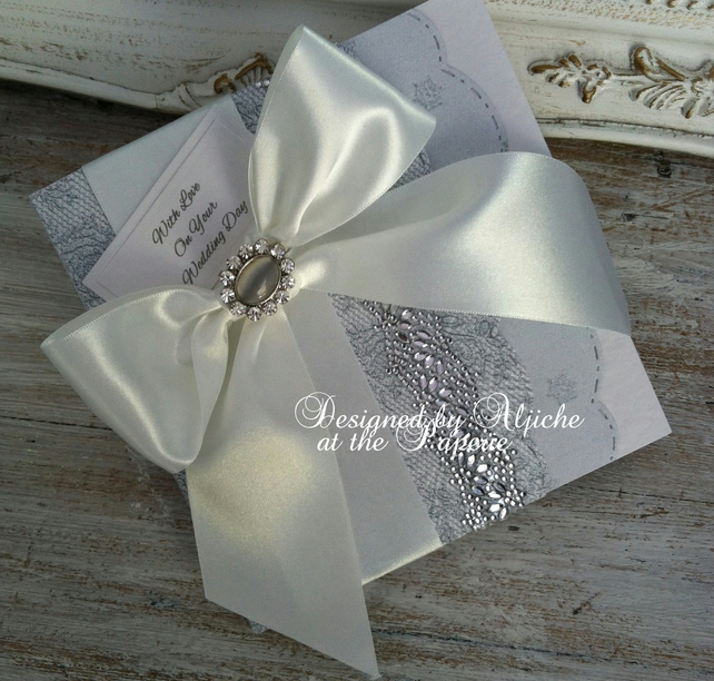 Wedding Card,  Personalized, Engagement, Anniversary Card, Silver Wedding