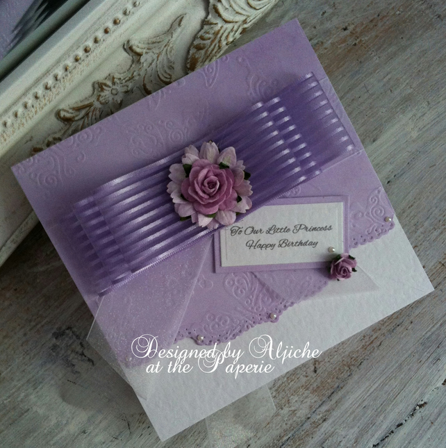 Birthday Card, Girls, Daughter, Granddaughter, Christening, Personalized