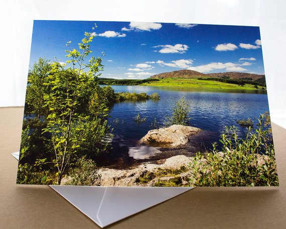 Clatteringshaws Loch Photographic Greetings Card A5 Dumfries & Galloway Scottish