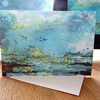 Blank Greetings Card - Seascape - Scotland