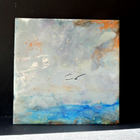 Abstract Seascape Painting - Encaustic Medium - Scotland