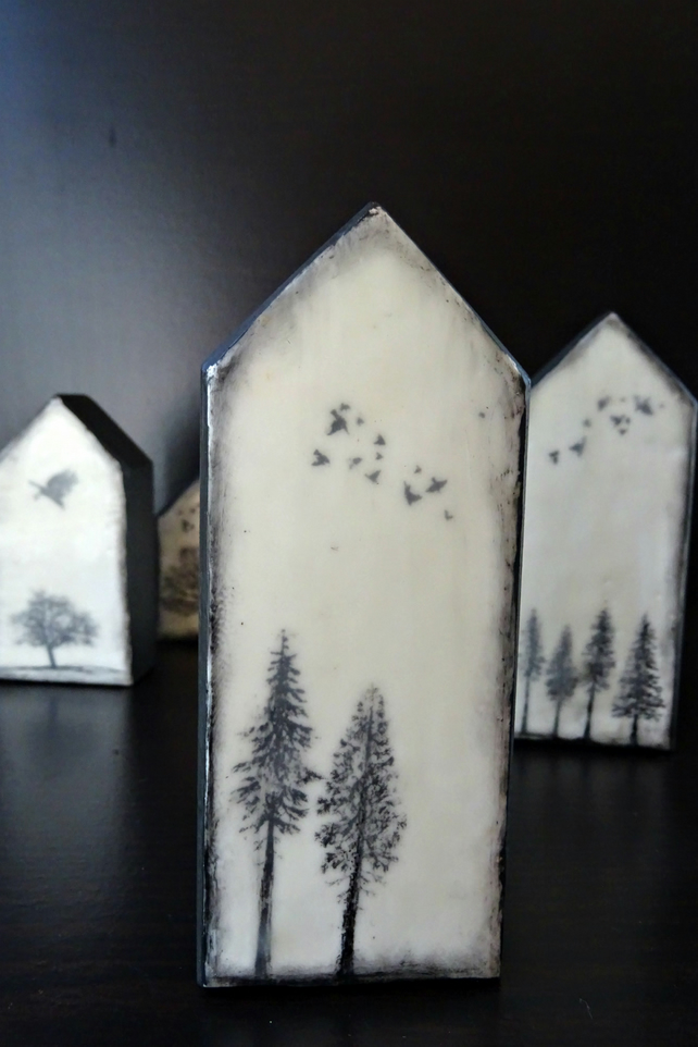 Miniature Encaustic Houses - Housewarming - New Home - Scotland