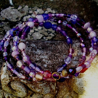 Purple Passion Wrap around Bracelet