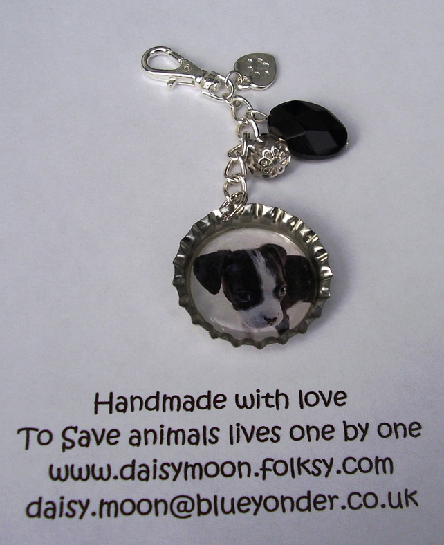 Rescue Dog Mobile phone or Handbag Charm