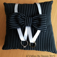Pinstripe Wedding Ring Cushion