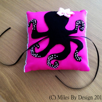 Steampunk inspired Octopus Wedding Ring Cushion