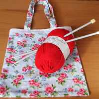 Small Pretty Floral Tote Bag
