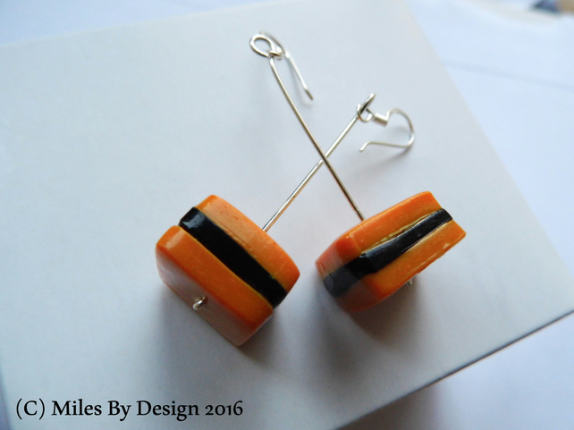 Sterling Silver Liquorice Sweet Drop Earrings