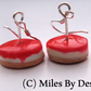 Strawberry Cheesecake Drop Earrings