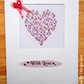 Hand Drawn Hearts Aperture Card - Multiple Occasions