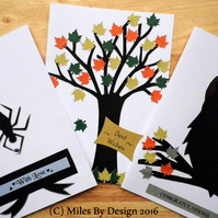 Set of 3 Autumnal Woodland Greetings Cards