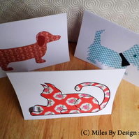 Pretty Set of 3 Animal Cards