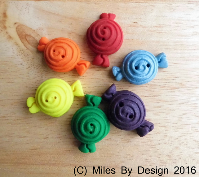 Handmade Polymer Clay Sweet Buttons
