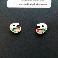 Paint Palette Stud Earrings