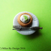 Key Lime Pie Miniature Dessert Plate for Dolls House
