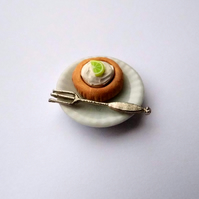 Key Lime Pie Miniature Dessert Plate for Dolls House - Food