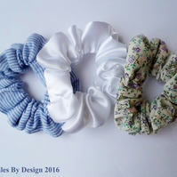 Set of Three Hair Scrunchies
