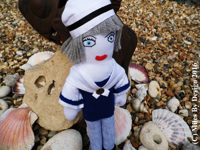 Leslie - OOAK Handmade Sailor Doll
