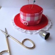 Red Bonnet Style Pin Cushion