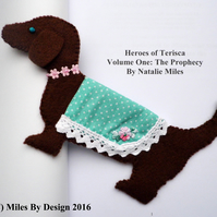 Brown Felt Dachshund Bookmark