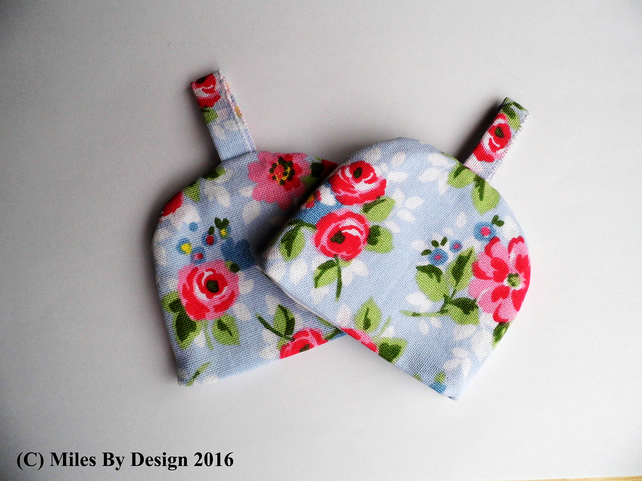 Pair Of Floral Egg Cosies - Gifts - Home Accessories