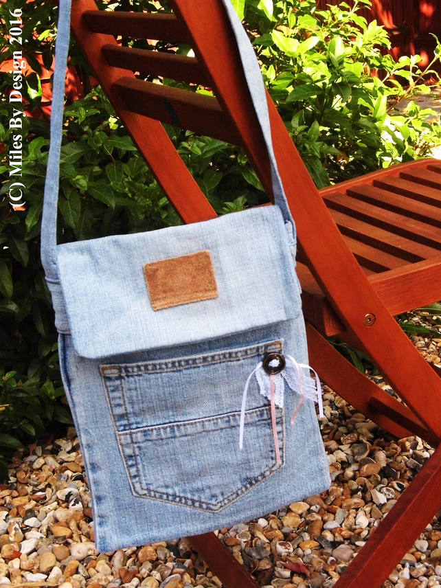 Pretty Recycled Denim Handbag
