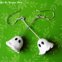 Sterling Silver Ghost Earrings