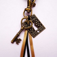 Lock & Key Vintage Inspired Keyring