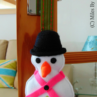 Festive Hanging Snowman Decoration