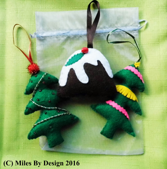 Three Christmas Tree Decorations