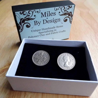Lucky Sixpence - 1966 Coin Cufflinks