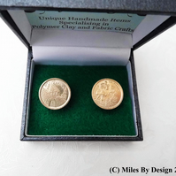Spanish 1996 Peseta Coin Cufflinks