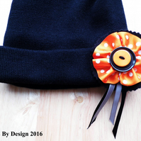 Funky Girls Beanie Hat with 3 Interchangeable Motifs