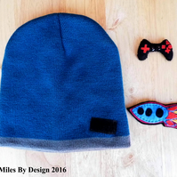 Boys Beanie Hat with 2 Changeable Embellishments