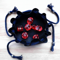 Small Gaming Dice Pouch with Dice Included