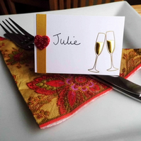 Six Celebration Place Card Settings