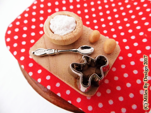 Miniature Cookie Baking Set for Dolls House