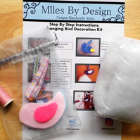 Make Your Own Bird Decoration Kit - Pink