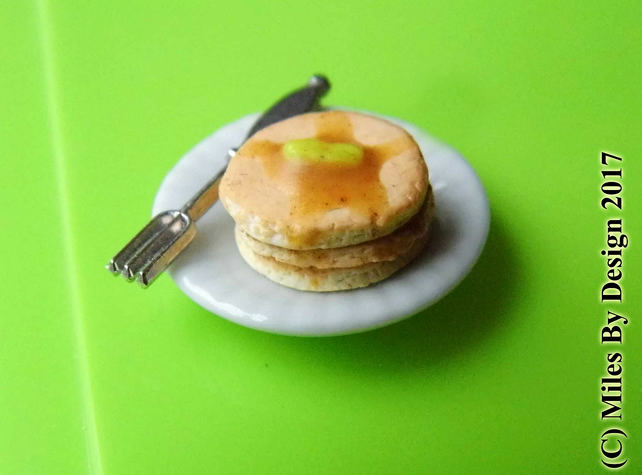 1:12 Scale Stack of Pancakes for Dolls house  - Food
