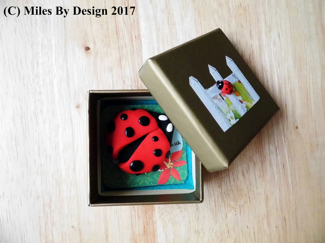 Polymer Clay Ladybird Brooch - Jewellery