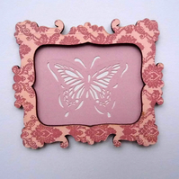 1:12 Scale Pink Butterfly Picture Frame