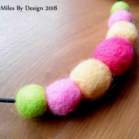 Summer Themed Needle-felted Necklace