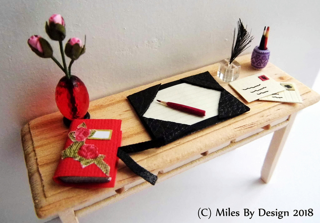 1:12 Scale Writing Desk Accessories Set