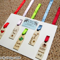Assorted Wooden Gift Tags