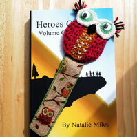 Whimsical Knitted Owl Bookmark