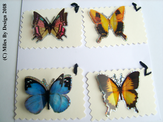 Butterfly Gift Tags ( Pack of Four)