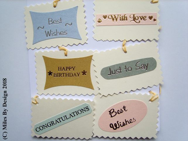 Multi - Occasion Gift Tag Set (Pack of Six)